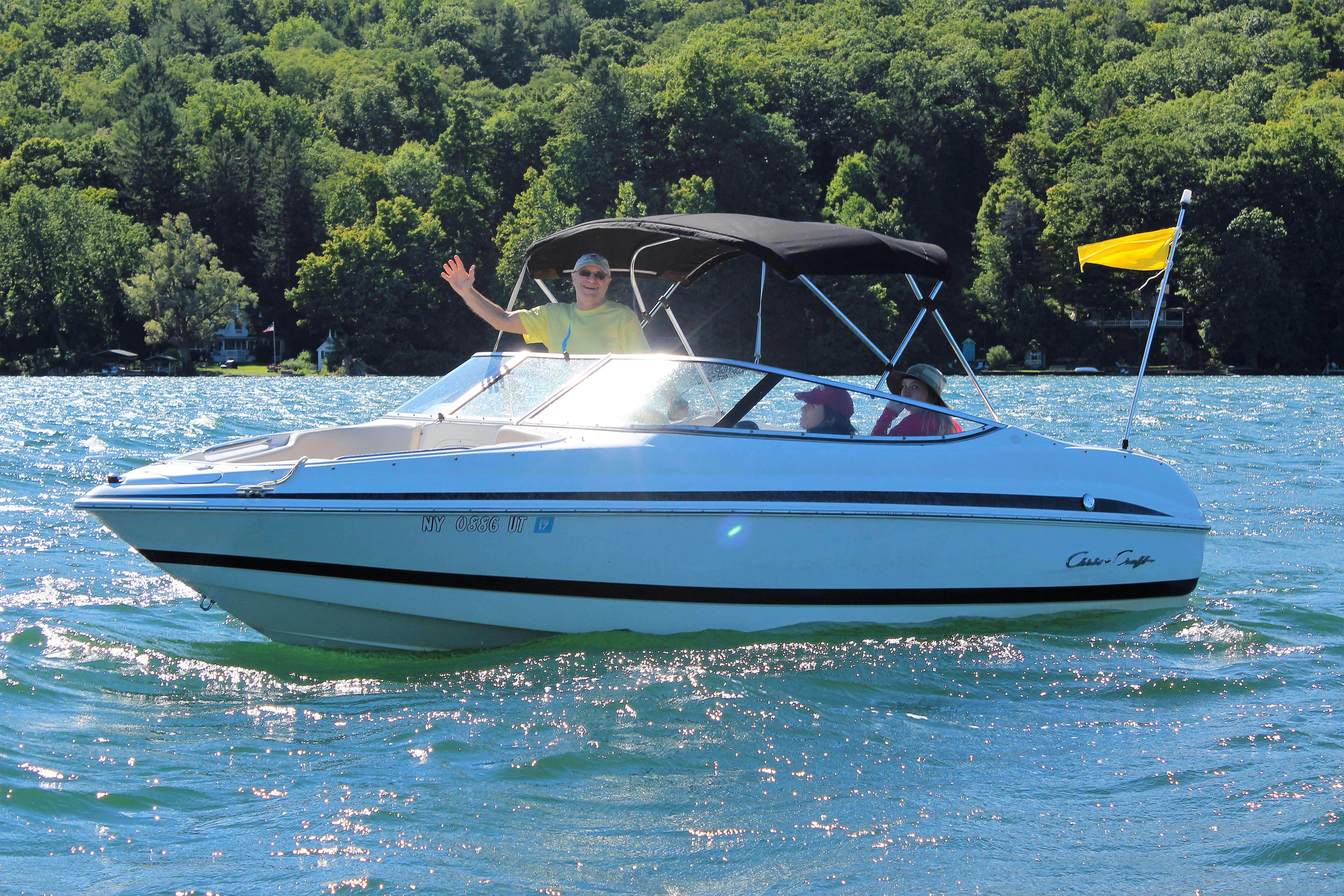 Boat on Cayuga Lake