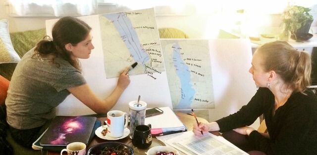 Intern Carly Shonbrun-Siege worked with Claire Weston of the Community Science Institute to map out lake-wide monitoring for Harmful Algal Blooms