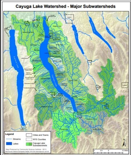 Map of Cayuga Lake Watershed
